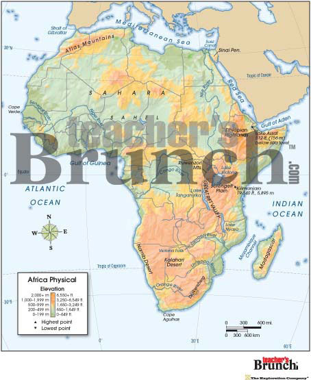 Africa Physical & Political Digital Map Set