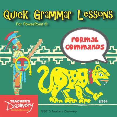 Formal Commands in Spanish PowerPoint CD