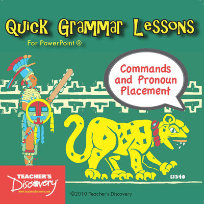 Commands and Pronoun Placement PowerPoint Spanish CD