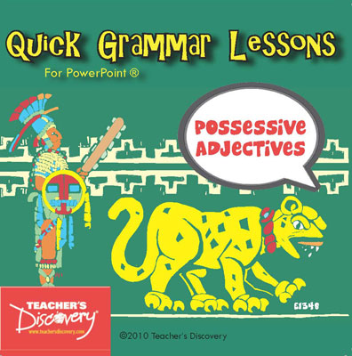 Possessive Adjectives Spanish PowerPoint CD
