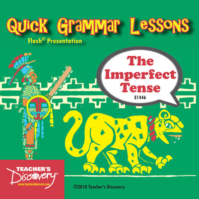 Imperfect Tense Adobe Flash Presentation on CD