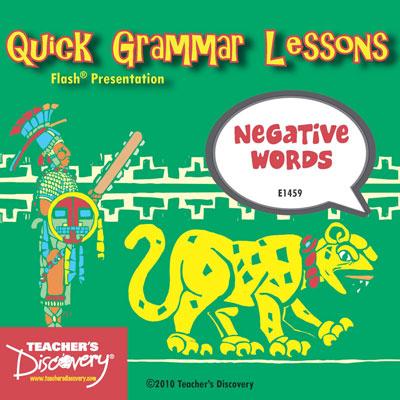 Negative Words Adobe Flash Presentation on CD