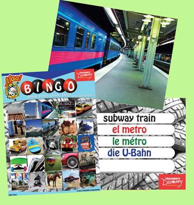 Transportation Bingo & Flashcards