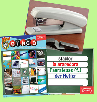 Classroom Nouns Bingo & Flashcards