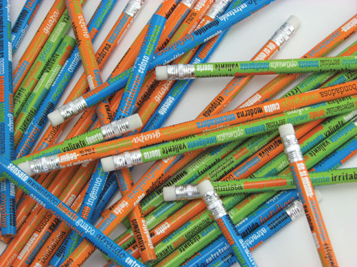 Adjectives Spanish Pencils Assorted