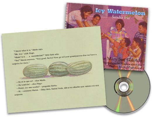 Icy Watermelon / Sandía fría Bilingual Spanish-English Story Book with CD