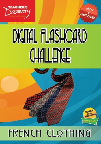 Digital Flashcard Challenge Game French Clothing