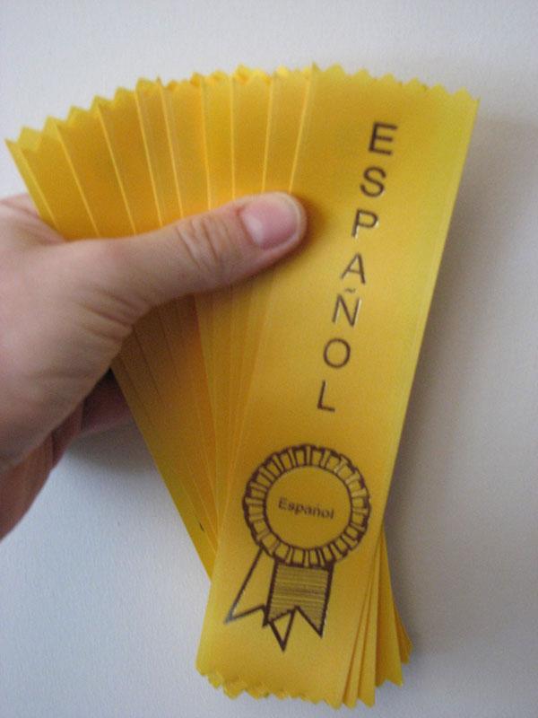 Yellow Español Ribbons