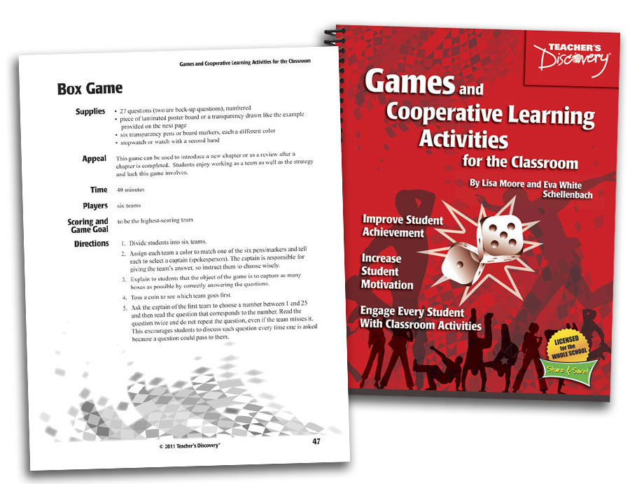 Collaborative Learning Classroom Activities ~ Games and cooperative learning activities for the