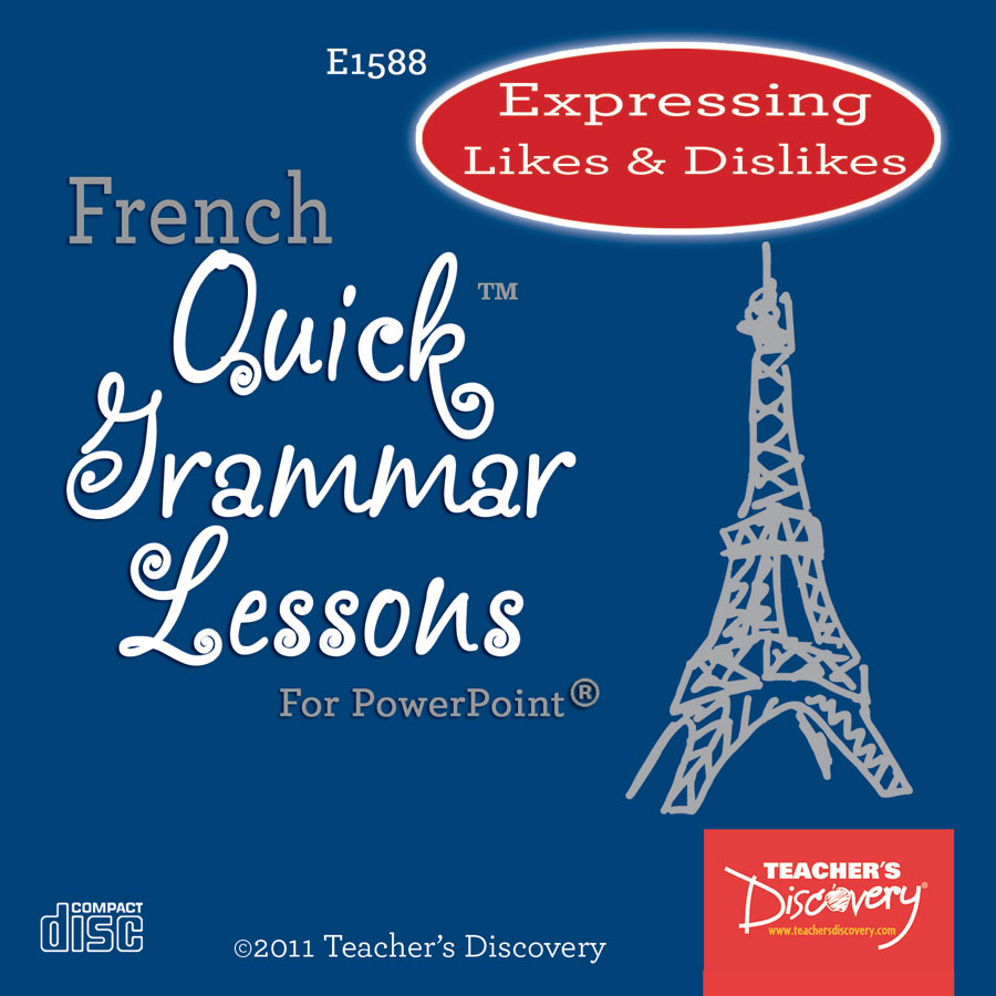 Expressing Likes & Dislikes French PowerPoint on CD
