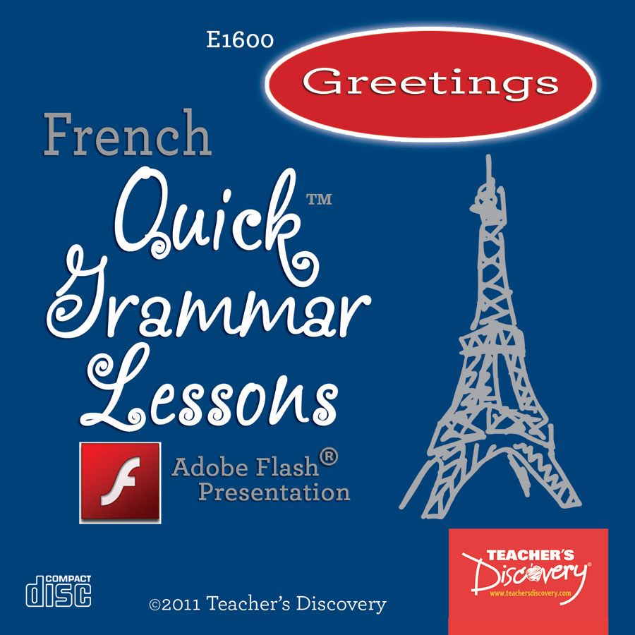 Greetings and Basic Expressions French Adobe Flash Presentation on CD