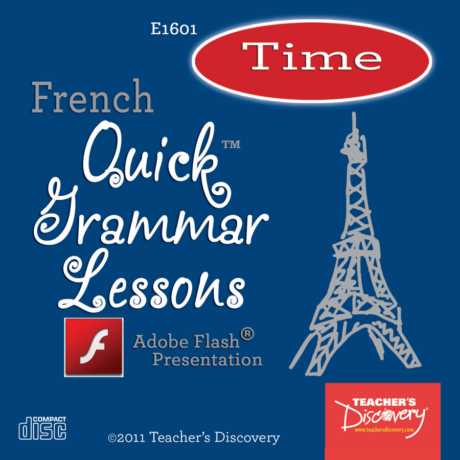 Time French Adobe Flash Presentation on CD