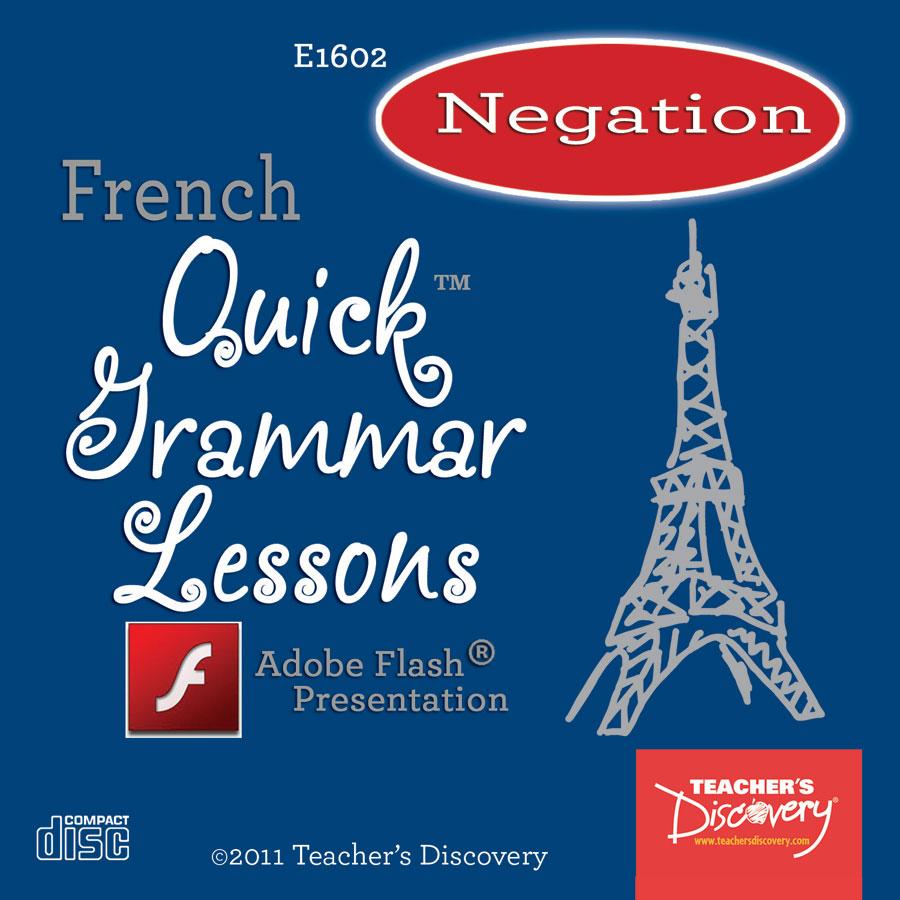 Negation Using Ne and Pas French Adobe Flash Presentation on CD