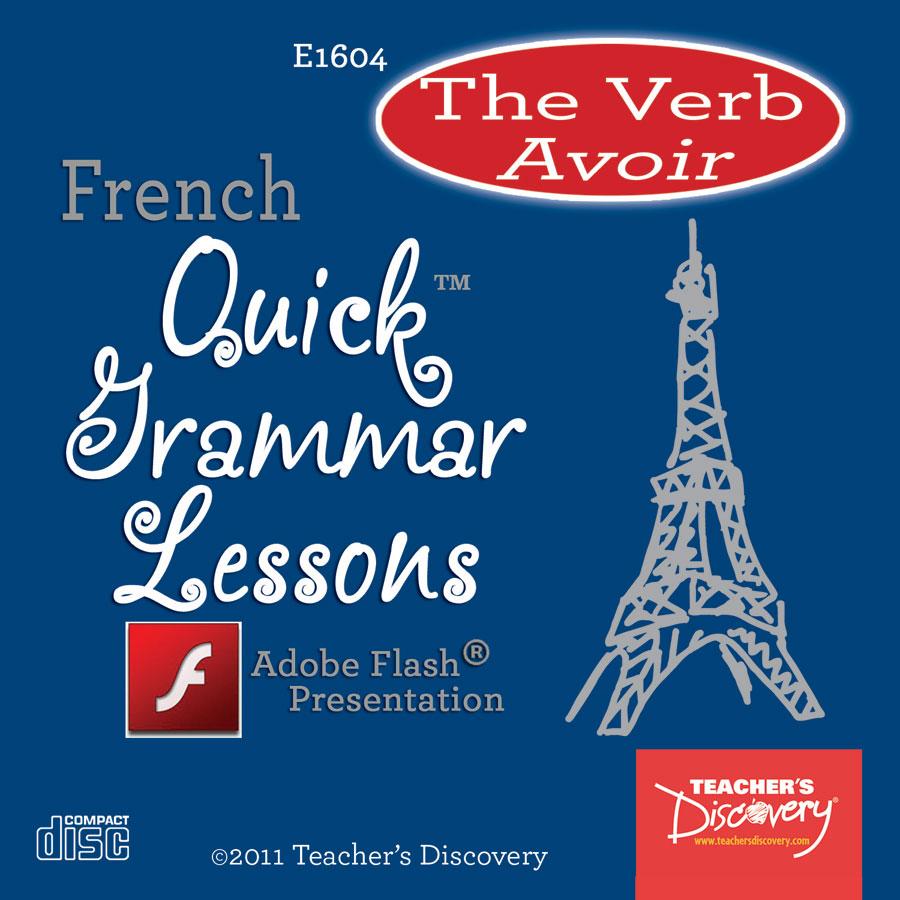 Verb Avoir French Adobe Flash Presentation on CD
