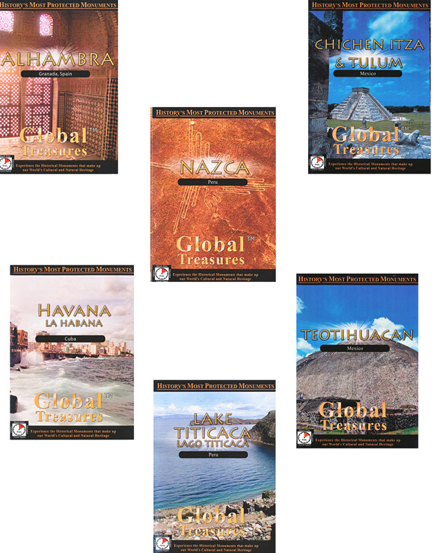 Global Treasures Spanish Set of 6 DVDs