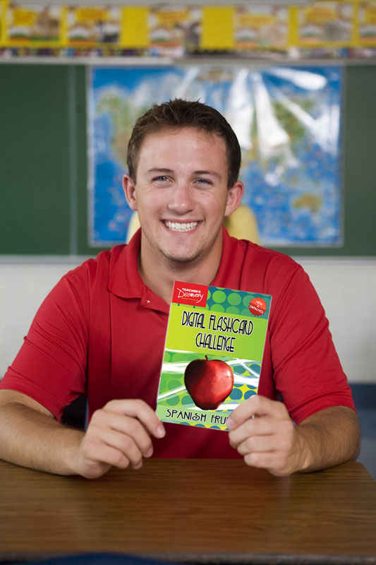 Digital Flashcard Challenge Game Spanish Fruits