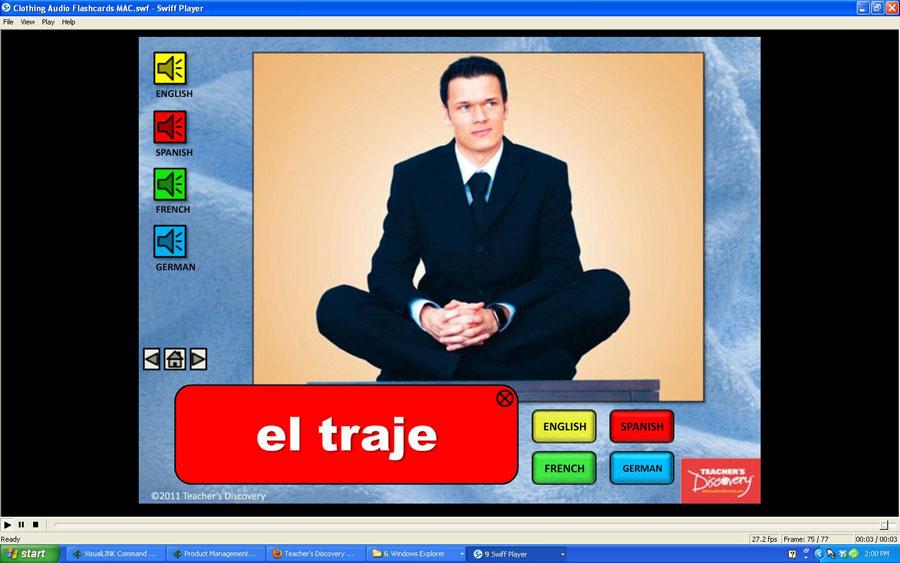 Audio Flash Cards Spanish/French/German/English Clothing (2010)