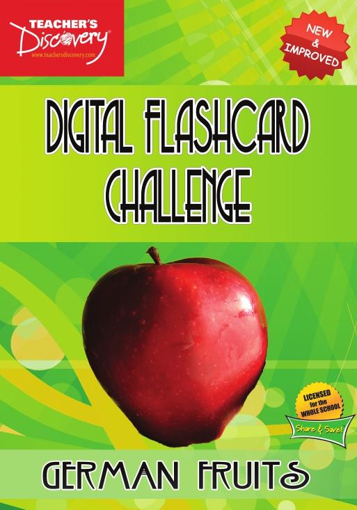 Digital Flashcard Challenge Games German Set of 10 Games on Flash Drive