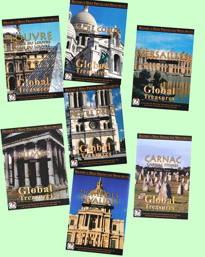 Global Treasures France Set of 7 DVDs
