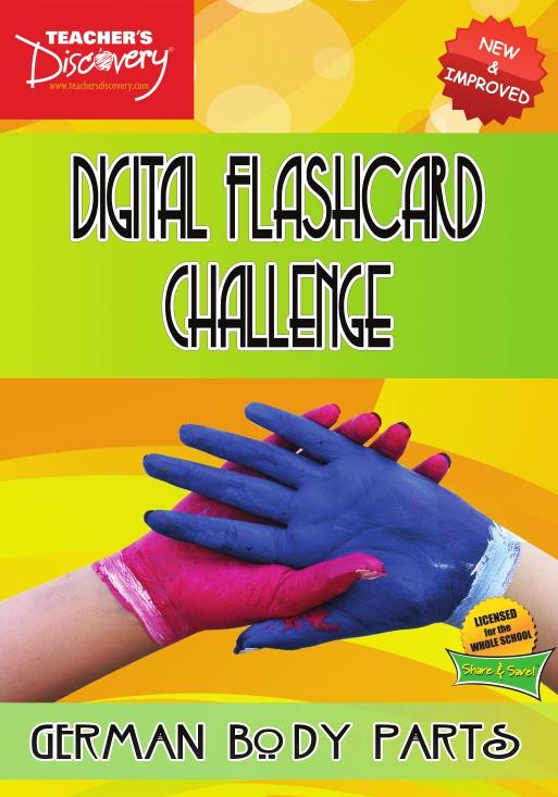 Digital Flashcard Challenge Game German Body Parts