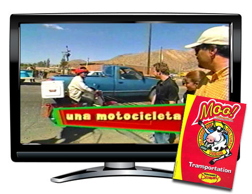 Moo!™ Transportation Spanish Video