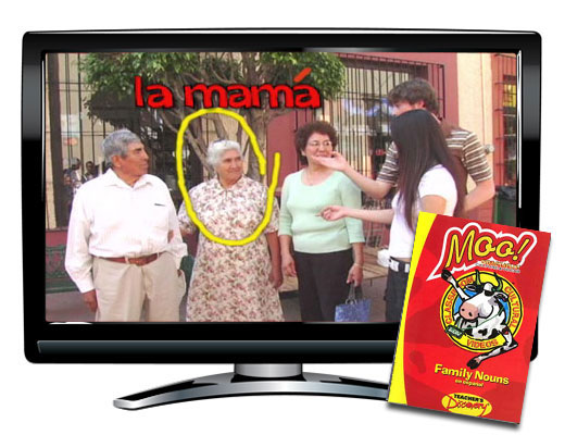 Family nouns vocabulary spanish dvd videos teacher 39 s for Farcical noun