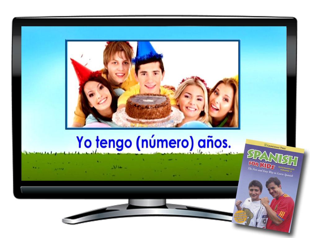 Language Tree Spanish For Kids Intermediate Volume 2 DVD