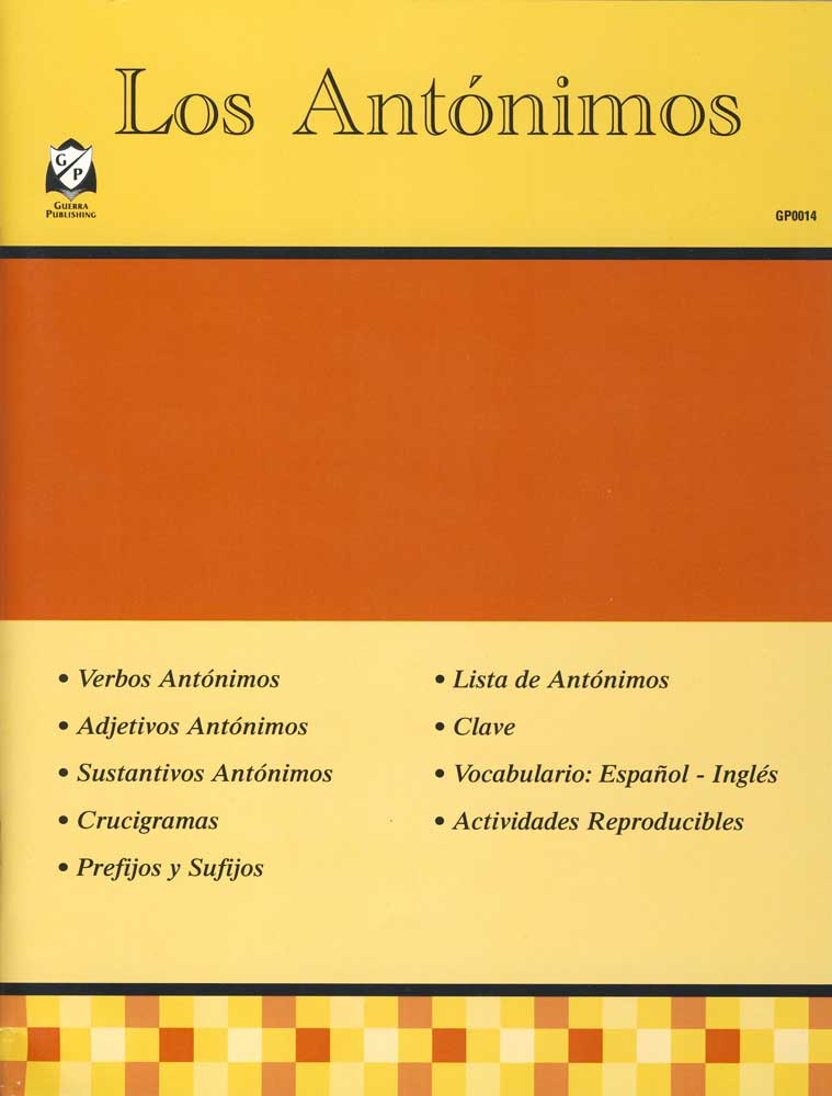 Los Antónimos Spanish Activity Book