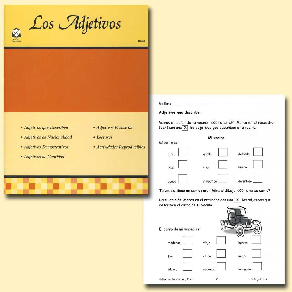 Los adjetivos spanish activity book spanish teacher 39 s for Farcical in spanish