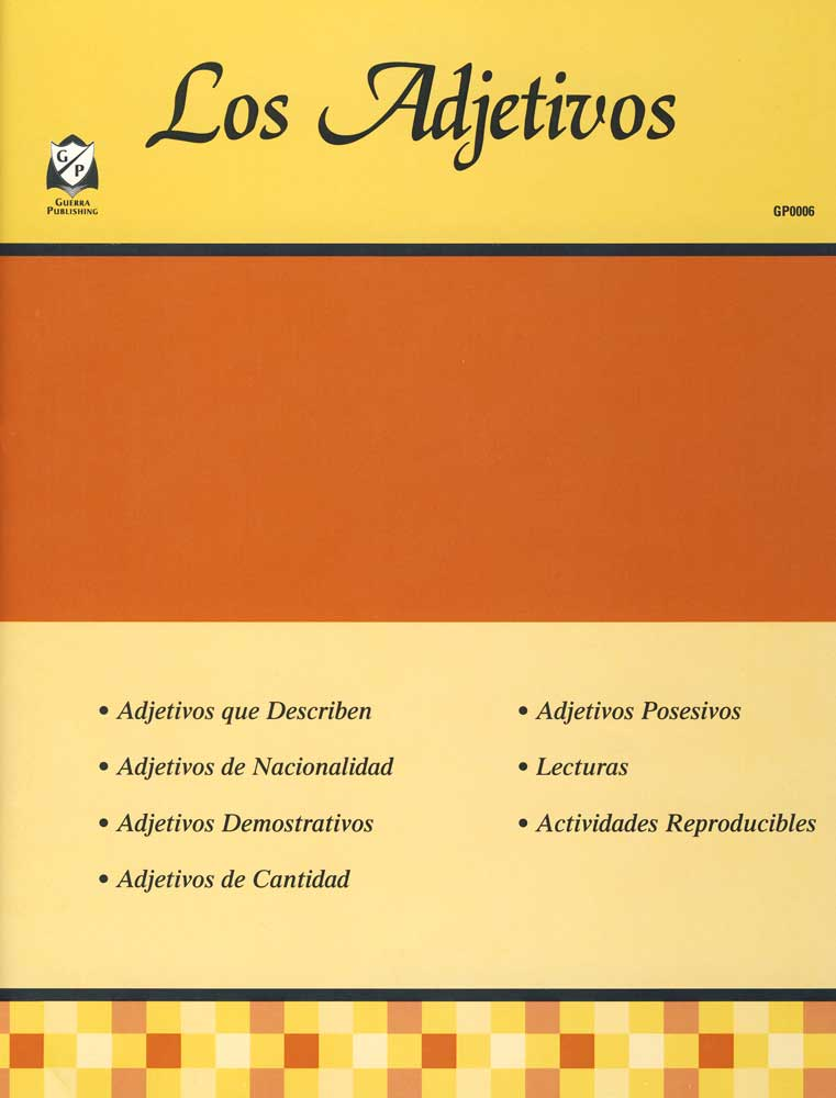 Los Adjetivos Spanish Activity Book
