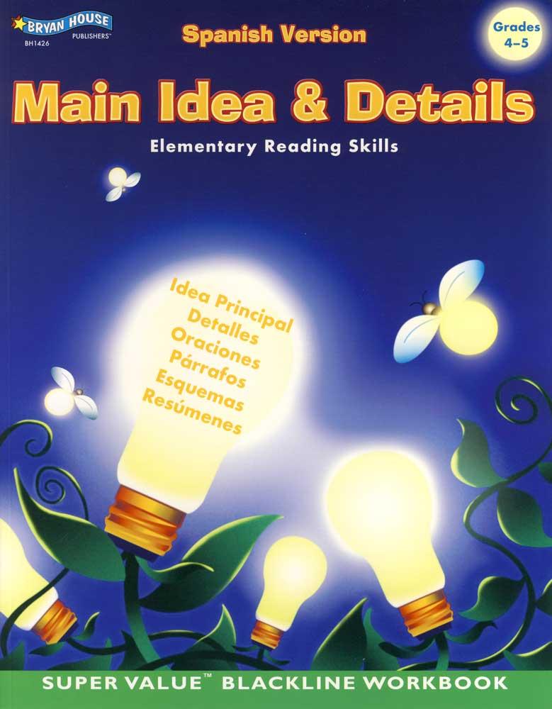 Main Idea & Details Spanish Version Book