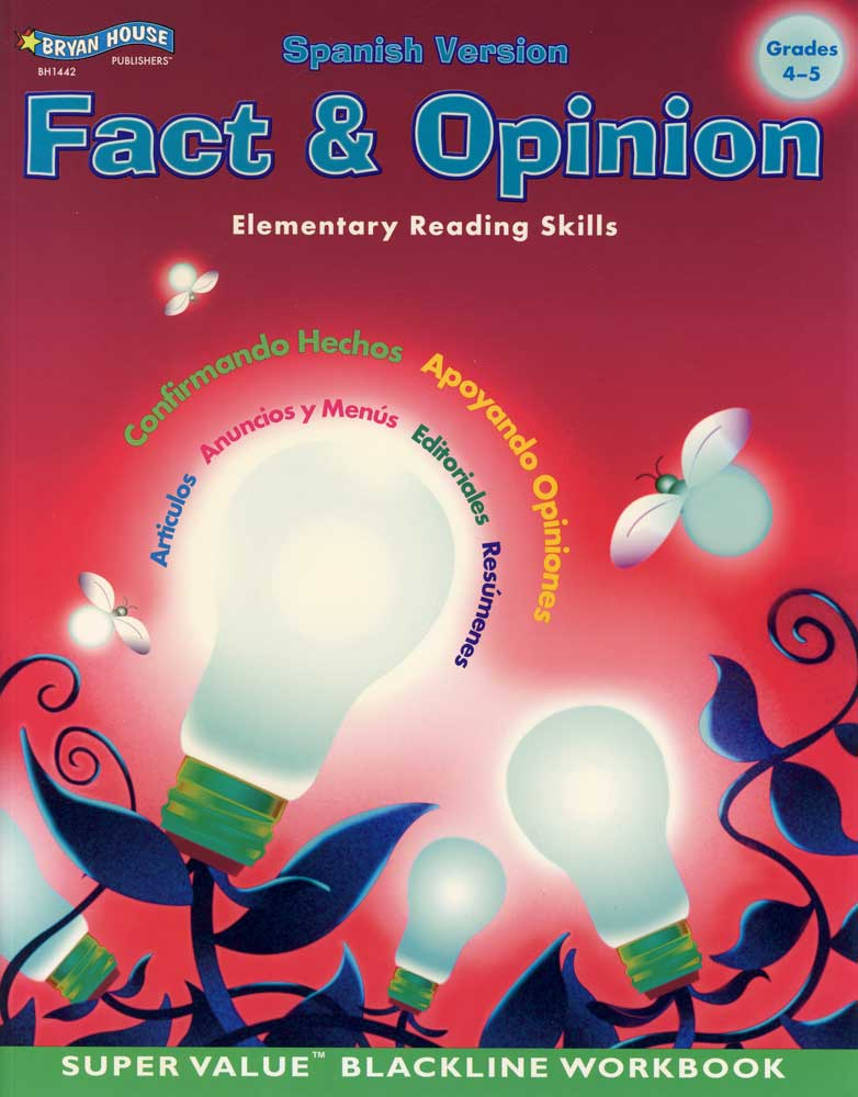 Fact and Opinion Spanish Version Book