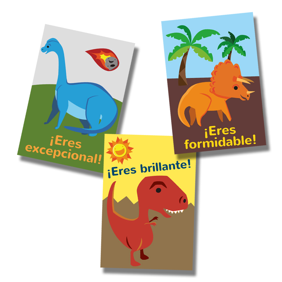 Dinosaur SER Spanish Stickers (60)