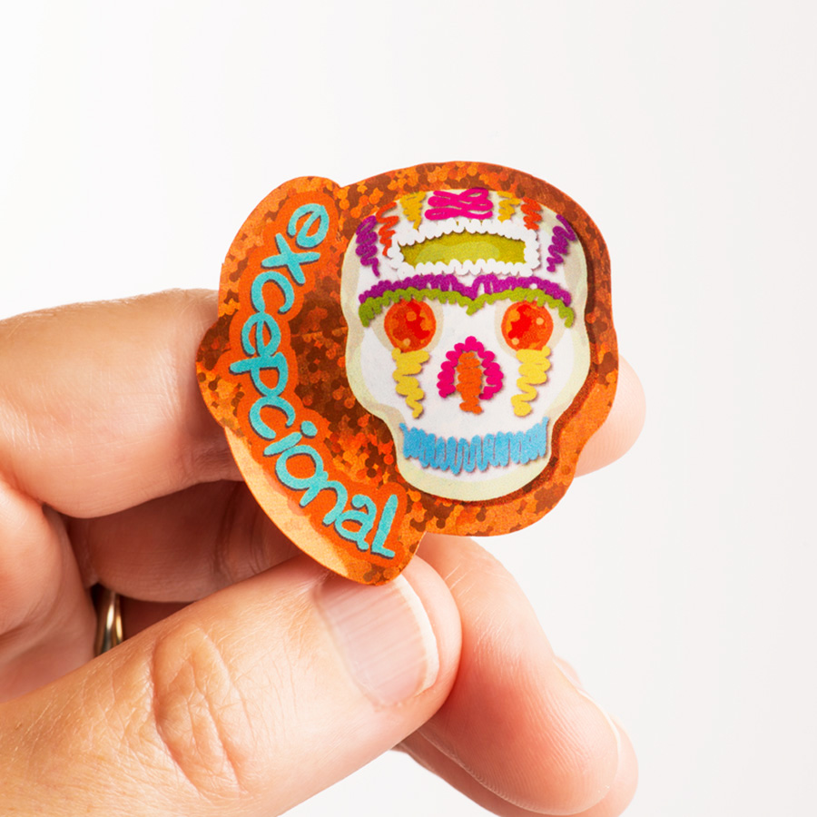 Sugar Skulls Spanish Stickers (100)