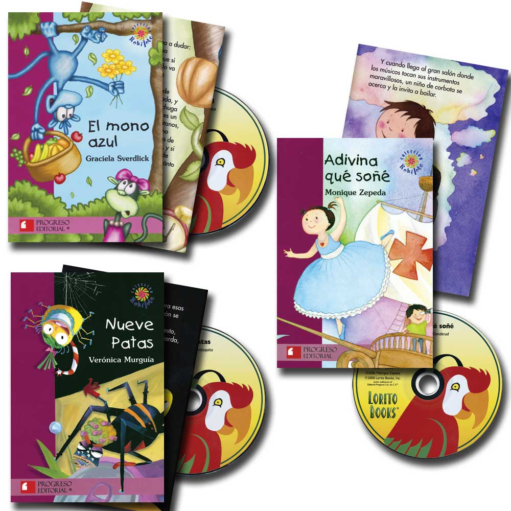 Elementary Spanish Story Books with CDs Set of 3