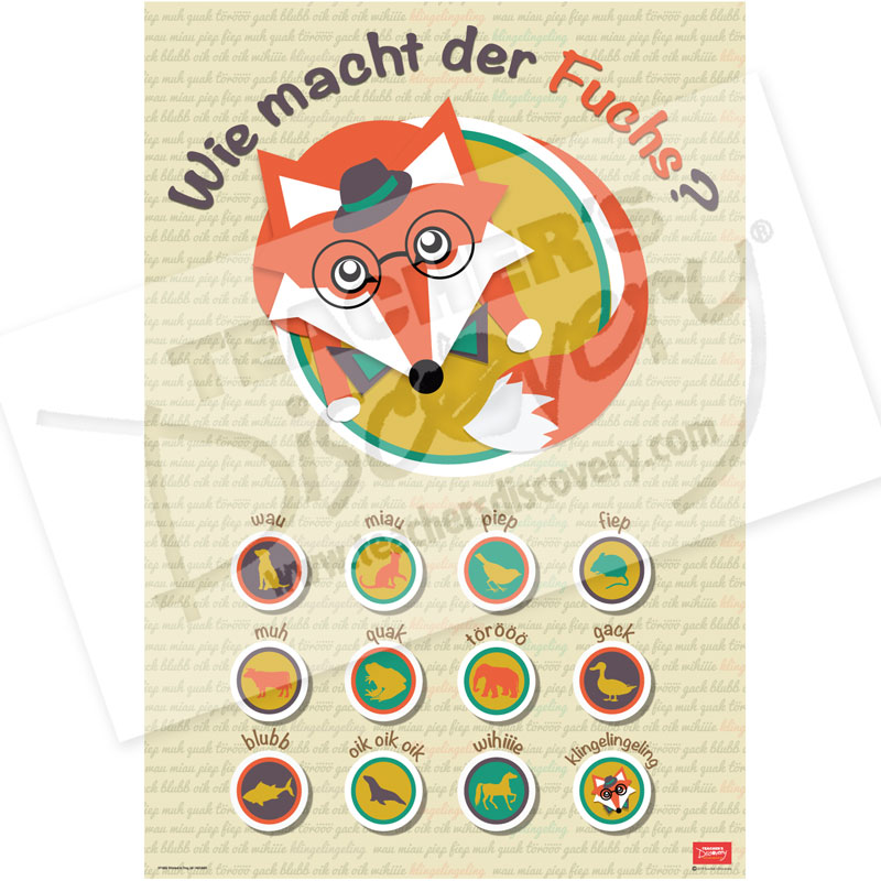 What Does the Fox Say? German Mini-Poster