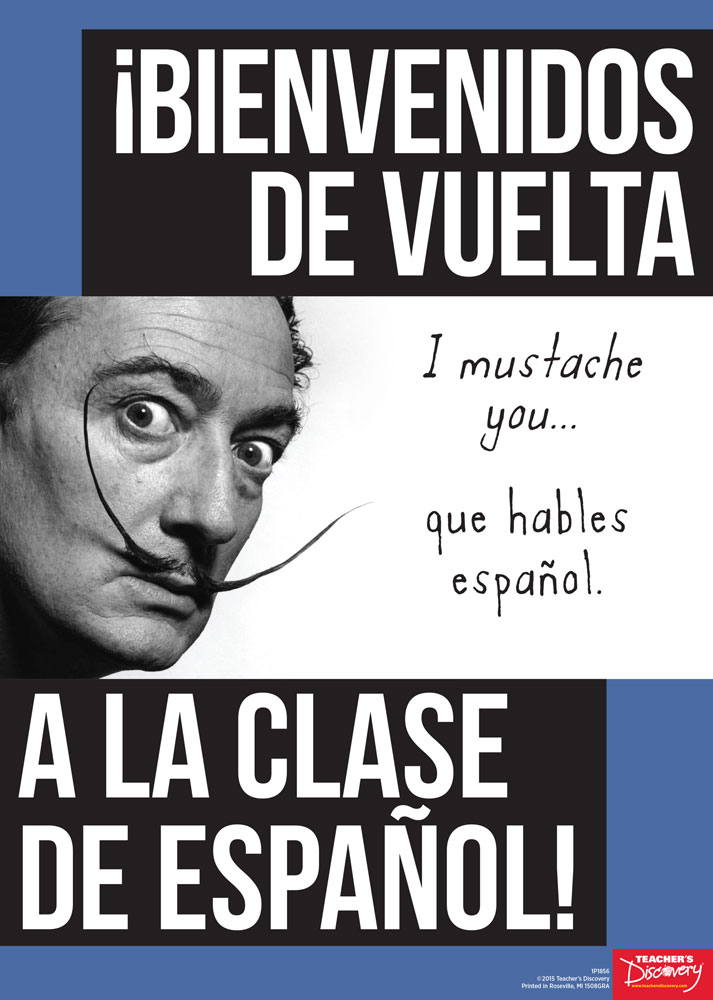 Welcome Back Dalí Spanish Poster