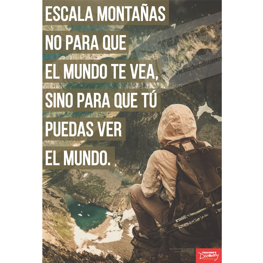 Climb Mountains Spanish Mini-Poster