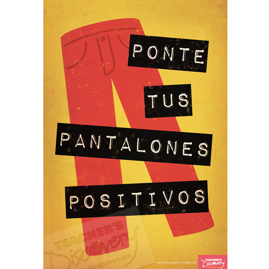 Positive Pants Spanish Mini-Poster