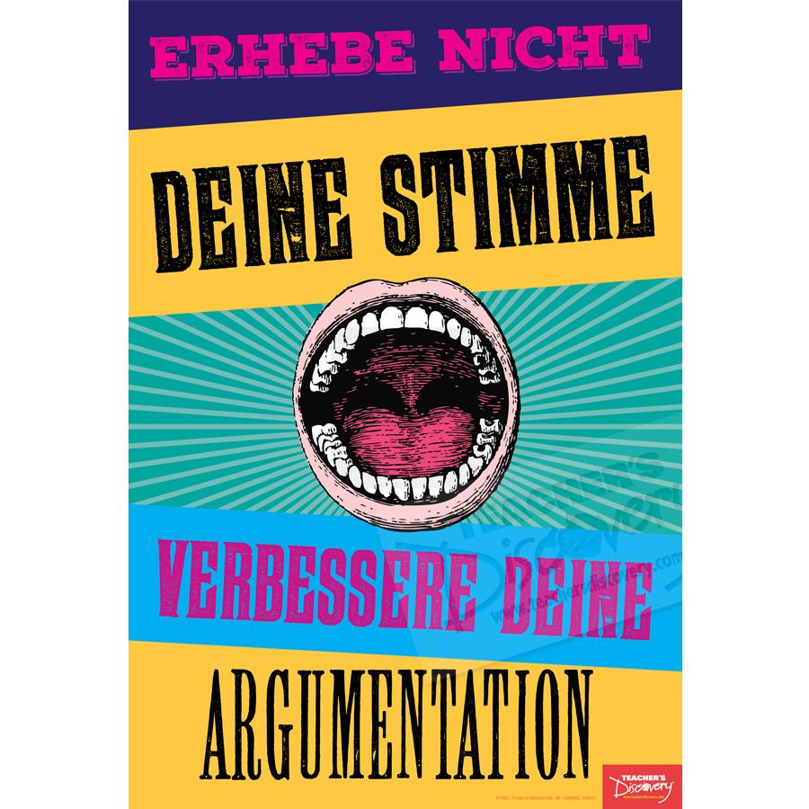 Improve Your Argument German Mini-Poster