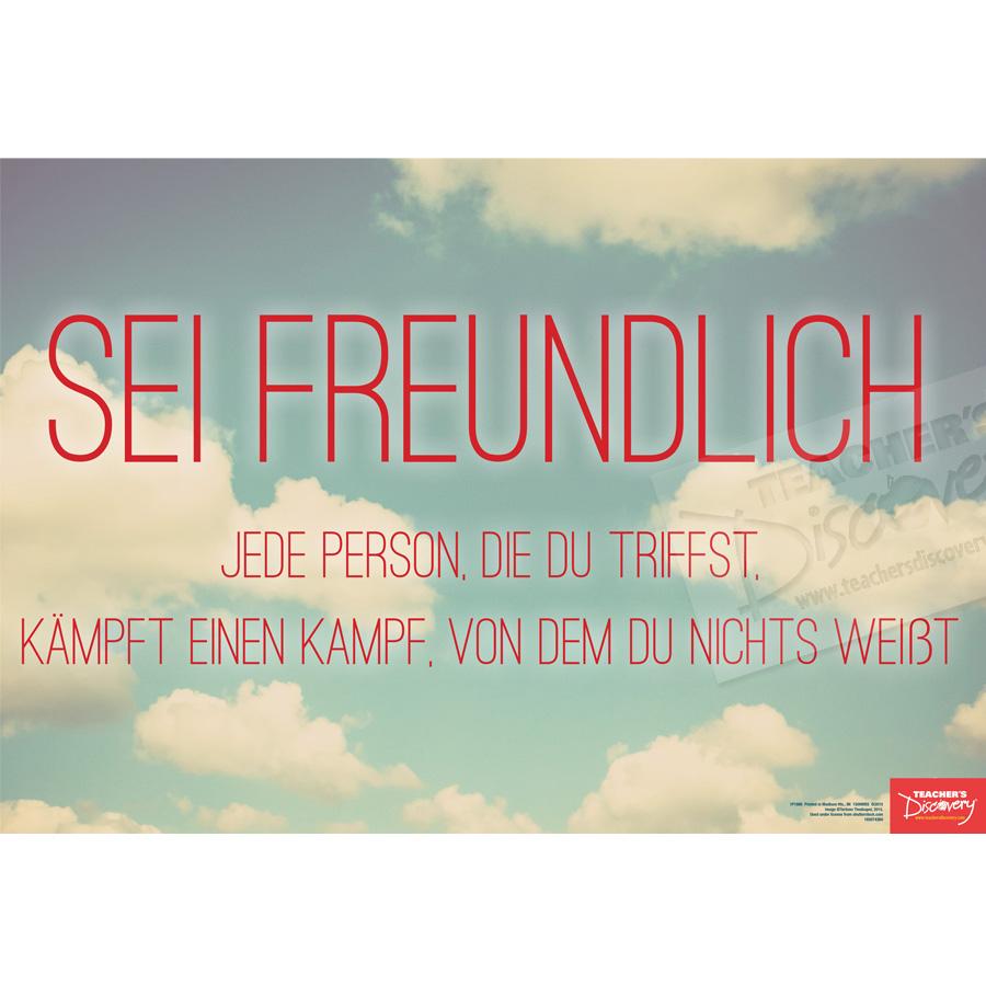 Be Kind German Mini-Poster