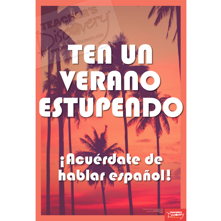 Great Summer Spanish Mini-Poster