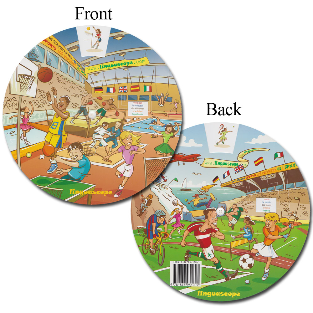 Multilingual Vocabulary Wheel - Sports