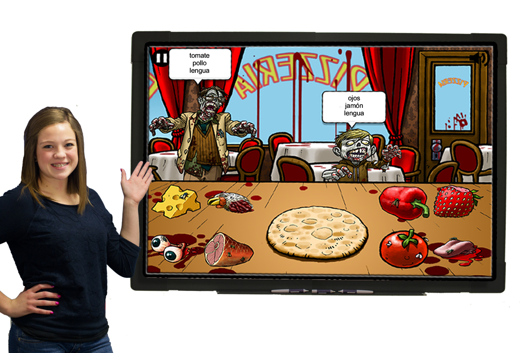 Zombie Feast Spanish Food & Body Parts Vocab Game Download