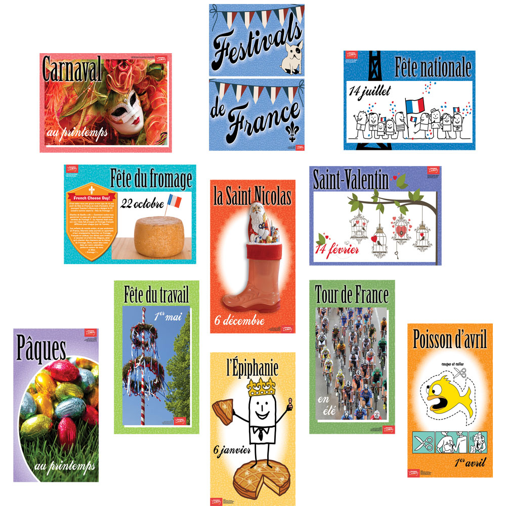 Festivals of France Bulletin Board Set