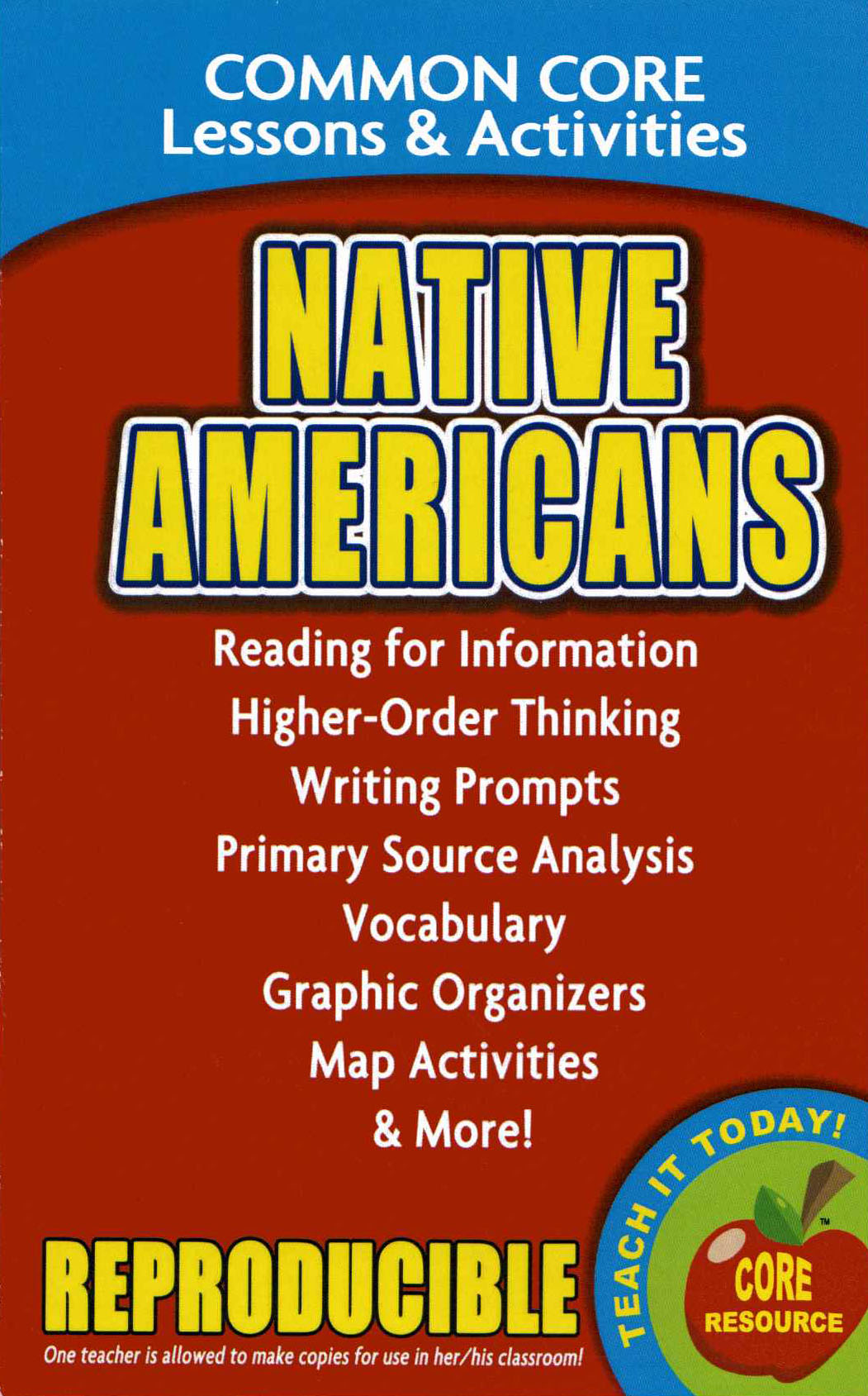 Native Americans Common Core Lessons and Activities Book