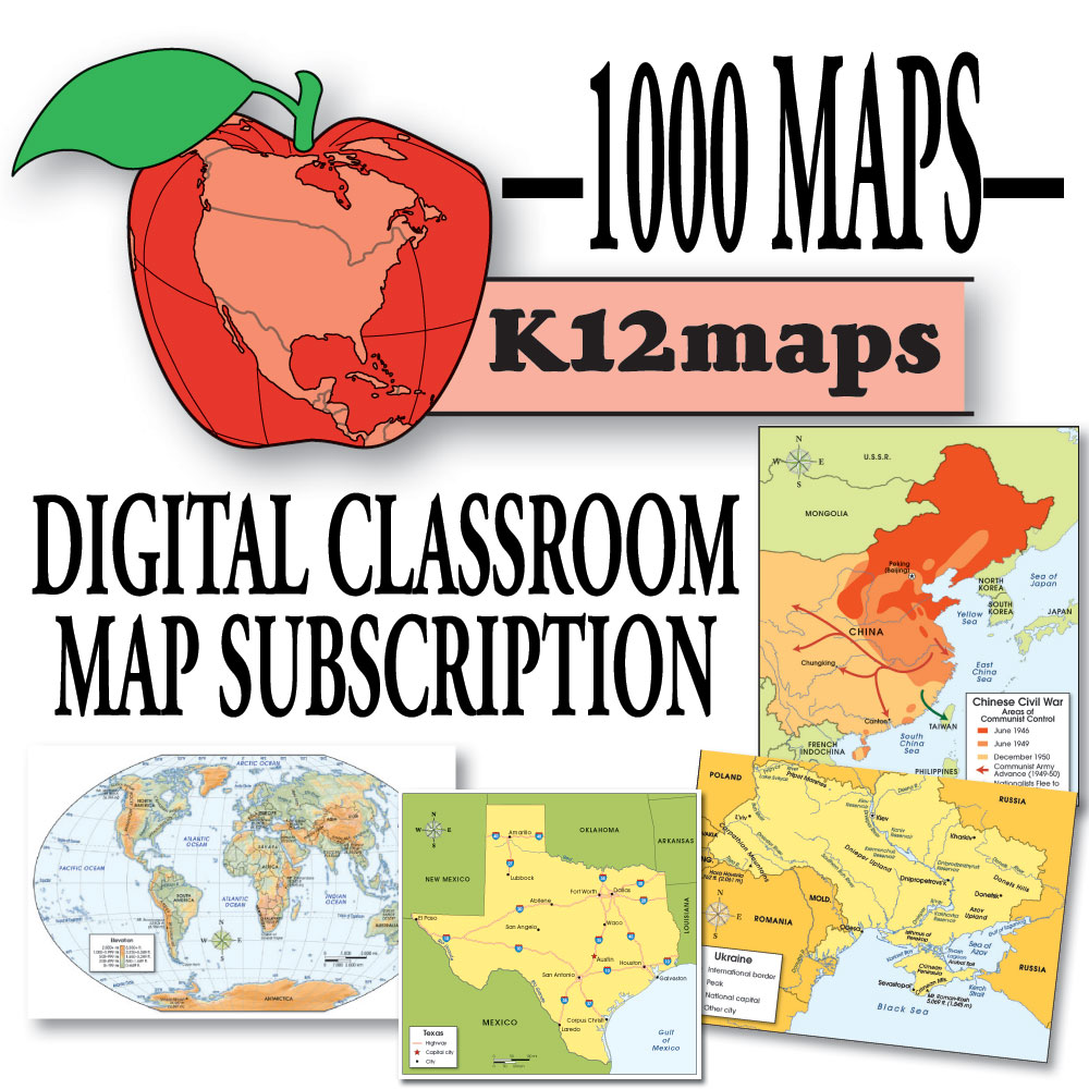 K12 Maps 1-Year Subscription