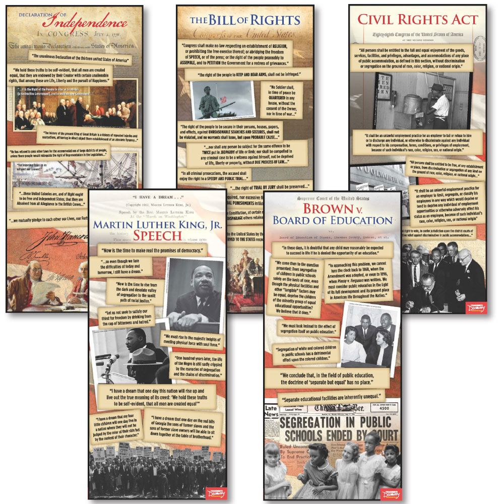 Documents in American History Poster Set of 5