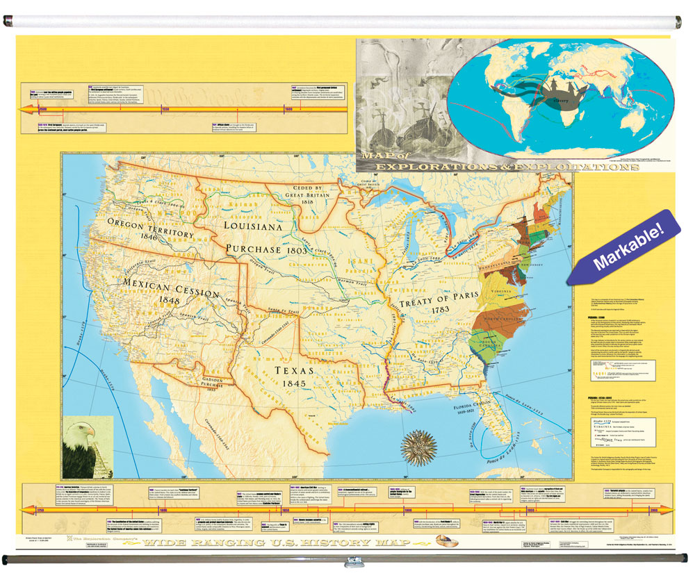 Early American History Roller Map