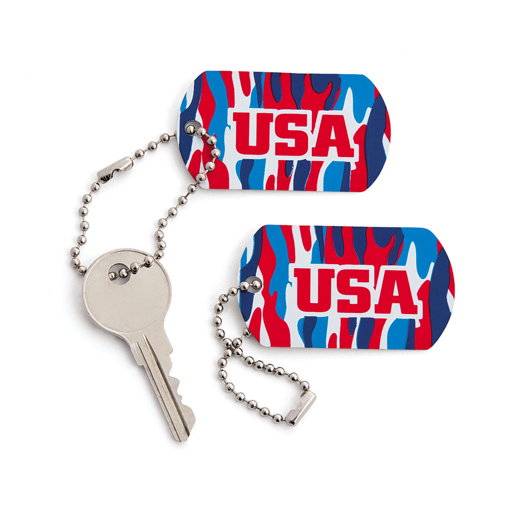 USA Camo Keychain Set of 12